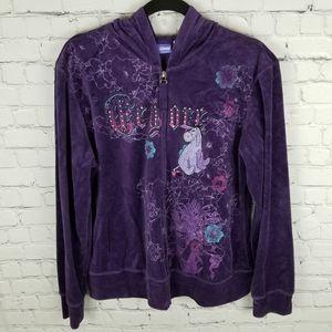 DISNEY   zip hoodie velour Eeyore sweater